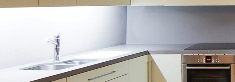 Example of LED under cabinet lighting