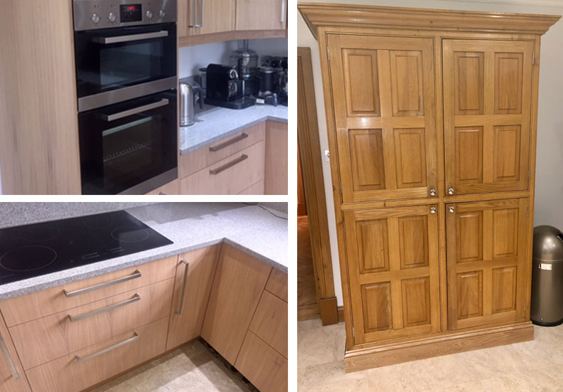 Kitchen makeovers by The Kitchen Doctor call 01689 850000