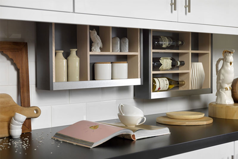 Cabinet Plus innovative storage behind your cabinets